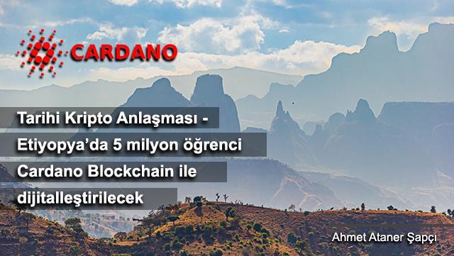 Tarihi Kripto anlaşması - Etiyopya'da 5 milyon öğrenci Cardano Blockchain ile dijitalleştirilecek