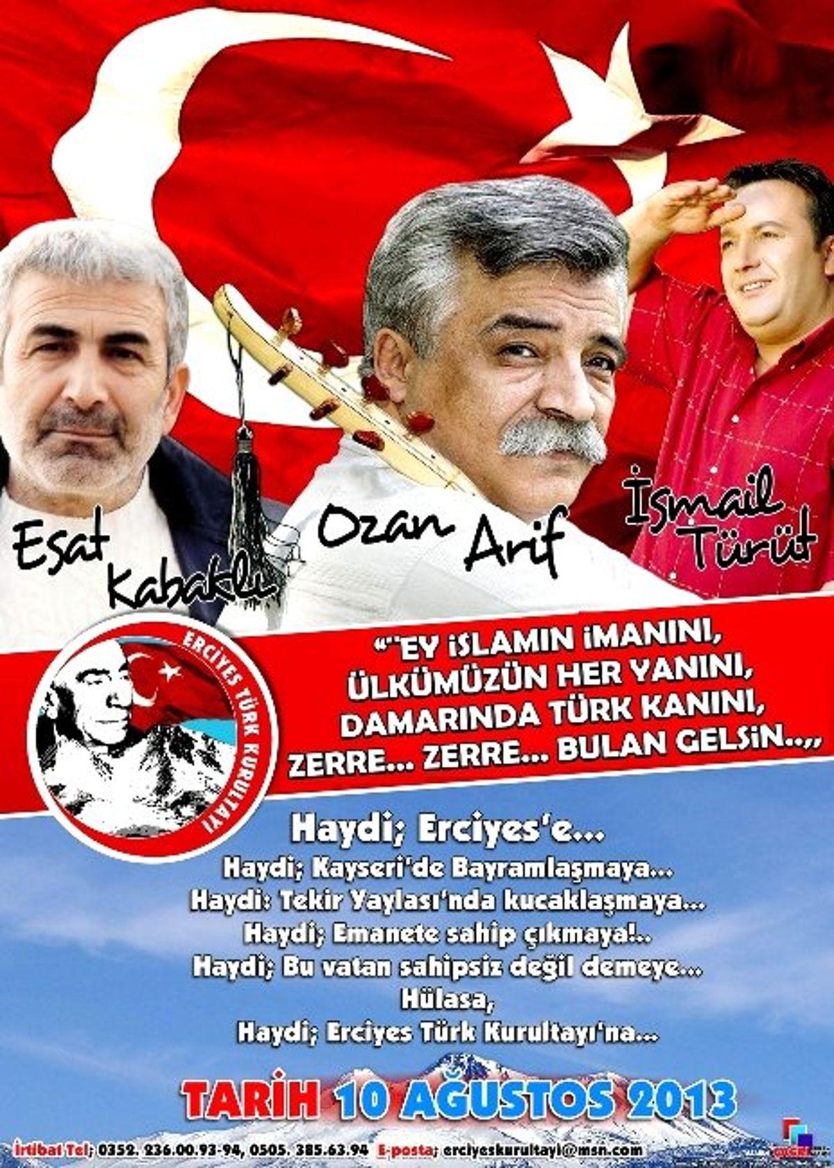 Ozan Arif, İsmail Türüt ve Esat Kabaklı Erciyes'e Geliyor