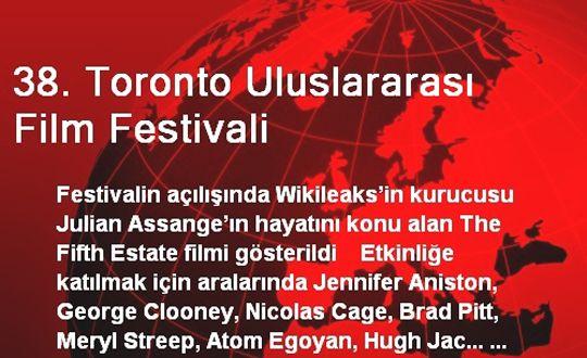 38. Toronto Uluslararası Film Festivali Başladı