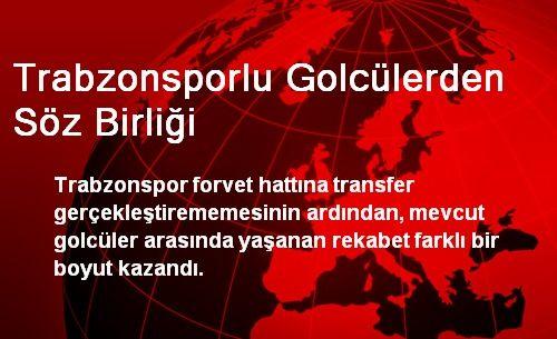 Trabzonsporlu Golcüler Taraftara Gol Sözü Verdi