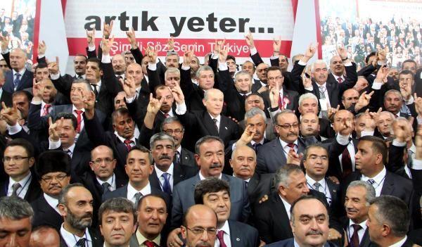 MHP Lideri Bahçeli 220 Belediye Başkan Adayını Tanıttı