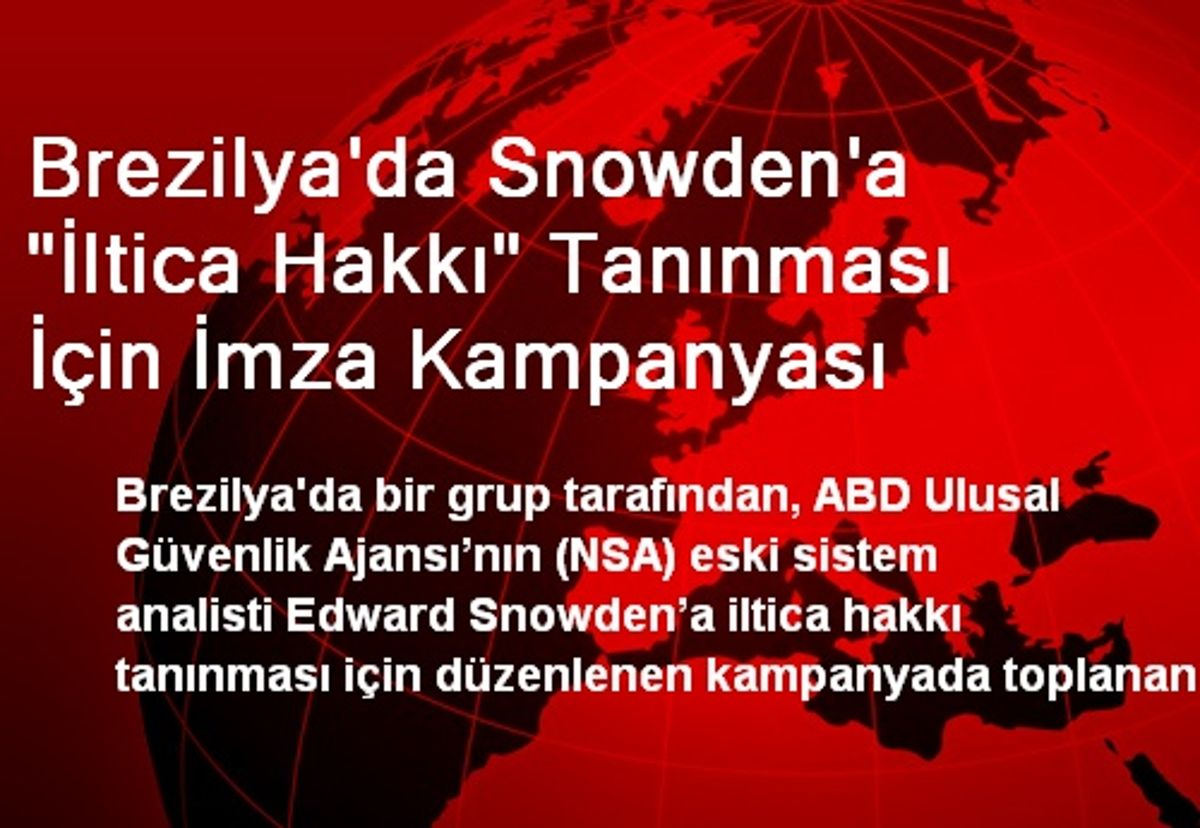 Brezilya'da Snowden'a