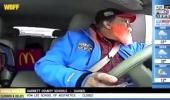 Reporter 'Caught' Live On Air At Mcdonald's Drive-Thru