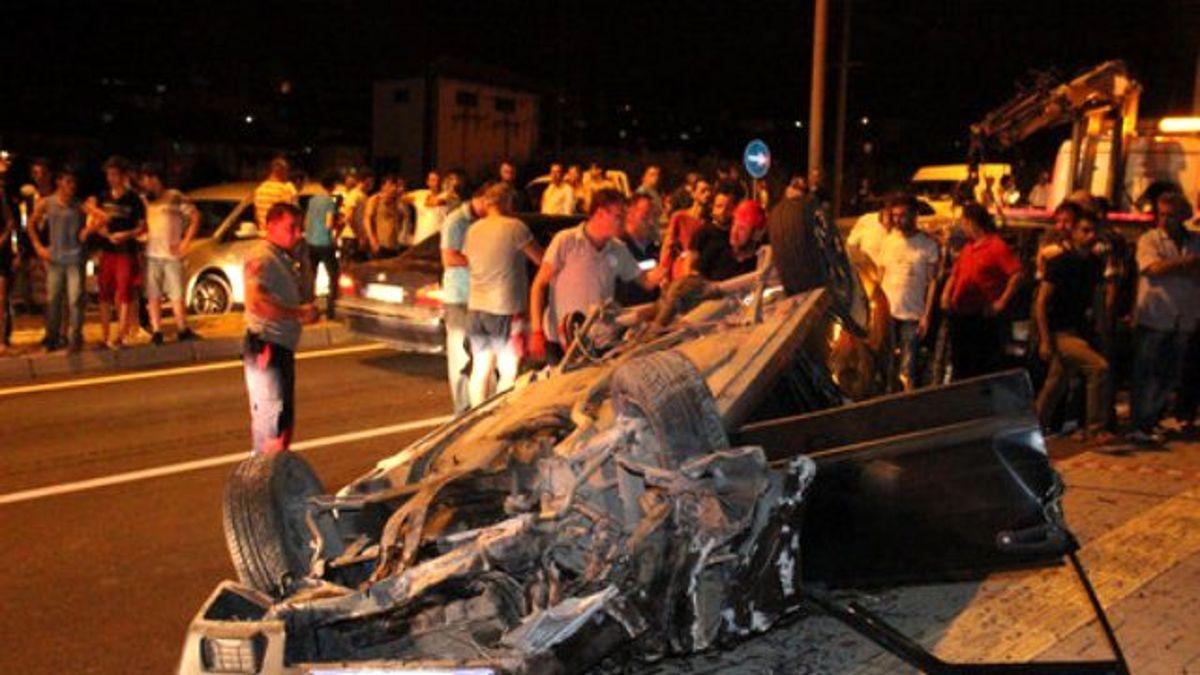 Yeni Aldığı Aracıyla Takla Atarak Karşı Şeride Geçen Sürücü Yaralandı
