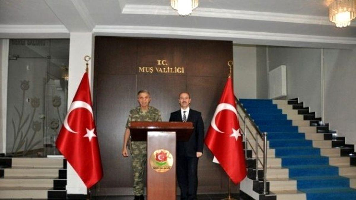 Orgeneral Mendi'den Vali Büyükersoy'a Ziyaret