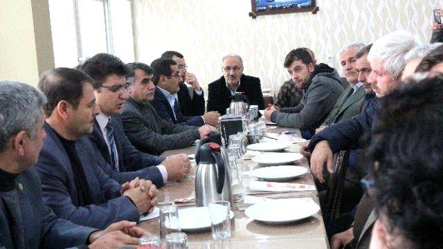 Tkdk İl Koordinatörü, Ziraat Odası Başkanları ile Horasan'da Bir Araya Geldi