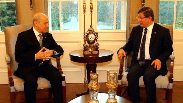 Başbakan Davutoğlu, Bahçeli ile Görüştü