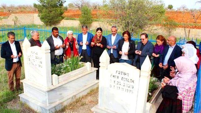 Hdp'liler Öcalan'ın Anne-babasının Mezarını Ziyarete Gitti