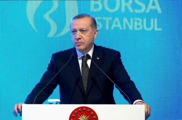 (Aktüel Görüntüyle) Cumhurbaşkanı Recep Tayyip Erdoğan, Borsa İstanbul'da Törene Katıldı
