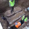 Inşaat Sahasında Oda Mezar Kalıntıları Bulundu
