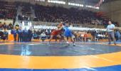 Kahramanmaraş'ta 130 Güreşçi Şampiyonada Ter Döktü