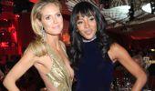 Manken Naomi Campbell ile Güzel Oyuncu Heidi Klum Öpüştü