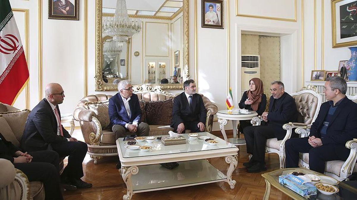 Aa Heyeti İran'ın Ankara Büyükelçisi Fard'ı Ziyaret Etti