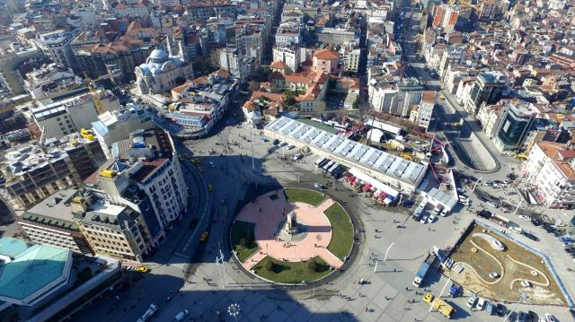 Taksim'e Yapılacak Caminin Temeli Atıldı