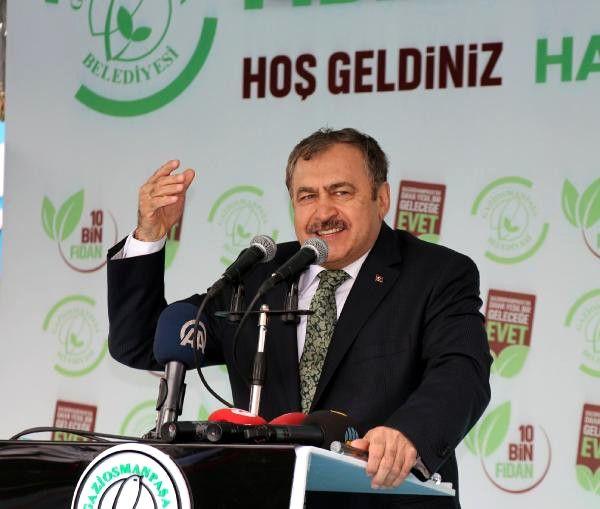 Bakan Eroğlu 10 Bin Fidan Dağıtım Etkinliğine Katıldı