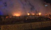 Başkent'te İnşaat Şantiyesinde Korkutan Yangın