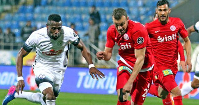 Antalyaspor, Çaykur Rizespor'u 2-1 Yendi