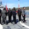 Foça'da Polisler Heybeliada Gemisinde Ağırlandı