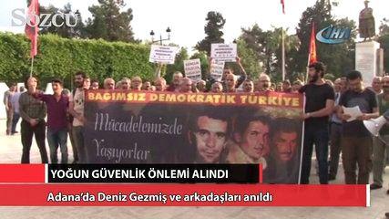 Adana'da Deniz Gezmiş ve Arkadaşları Anıldı