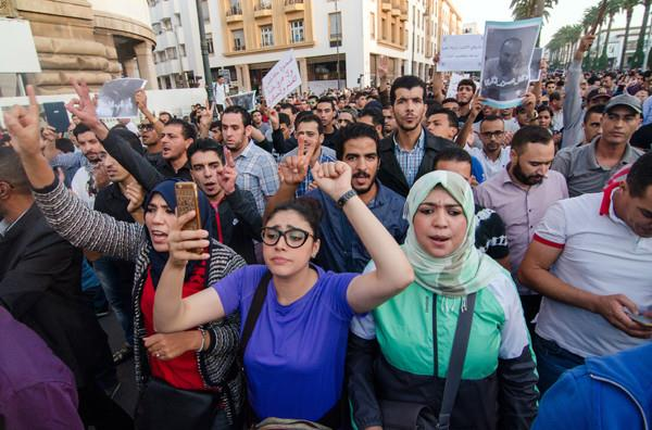 Fas'ın El-Huseyma Kentinde Gösteri
