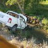 Kamyonet Sulama Kanalına Uçtu: 2 Yaralı