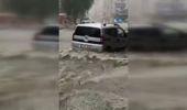 Şişli'de Araçlar Suda Mahsur Kaldı