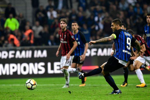 İtalya'da Milano Derbisinde Inter, Milan'ı 3-2 Yendi