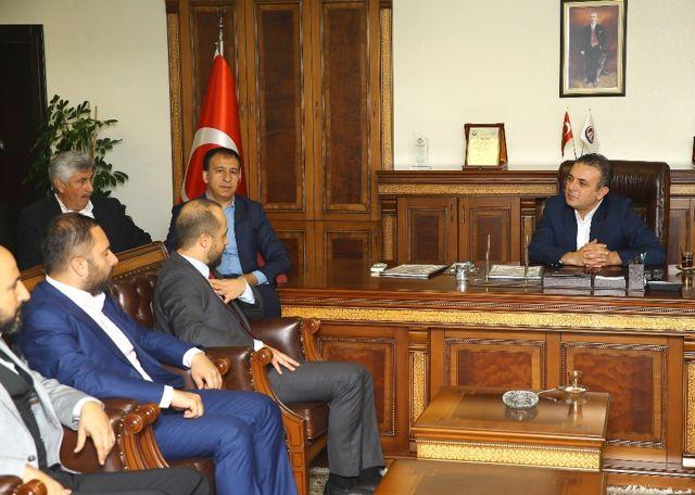 Başkan Ercan Ziyaretleri Kabul Ediyor