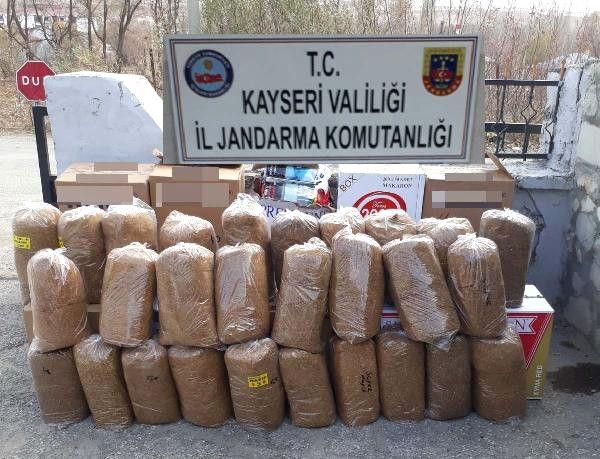 Kayseri'de Kaçak 140 Kilo Kıyılmış Tütün Ele Geçirildi