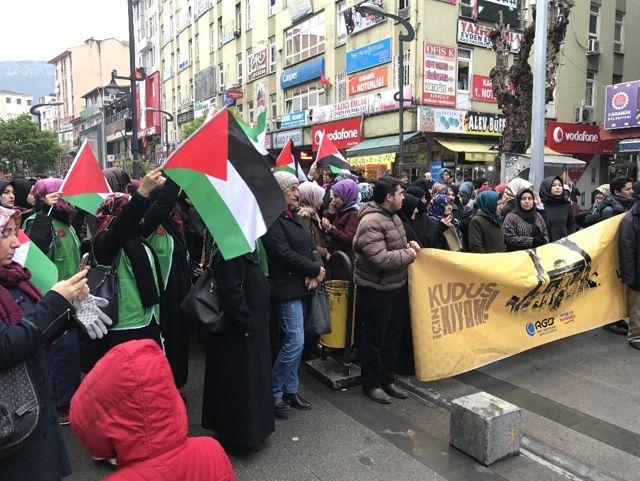 Karabük'te ABD'nin Kudüs'ü İsrail'in Başkenti İlan Etmesine Tepki