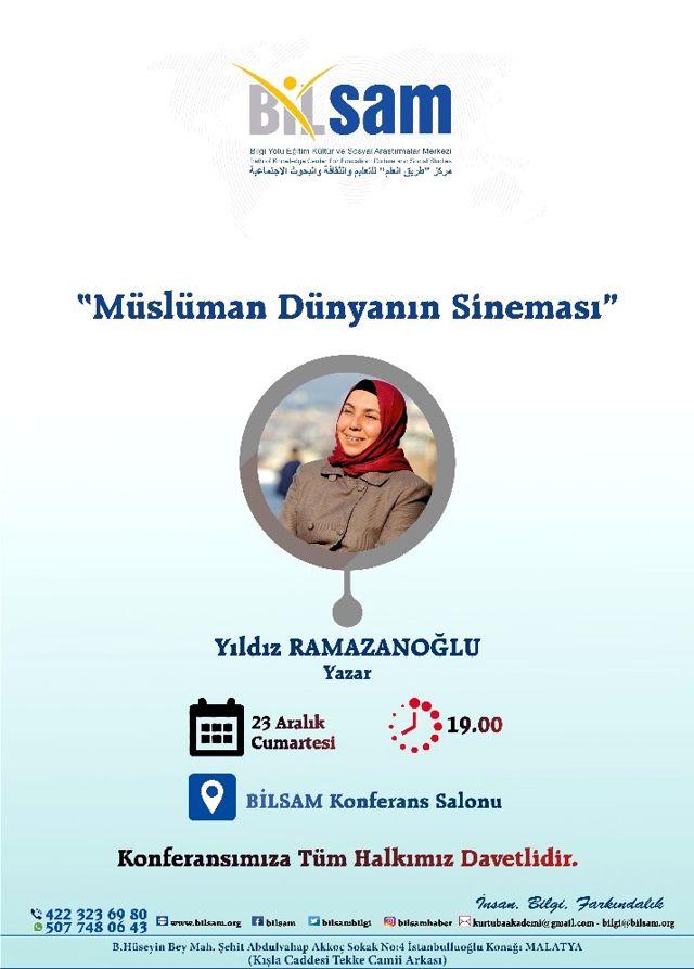 Bilsam Yazar Yıldız Ramazanoğlu'nu Ağırlayacak