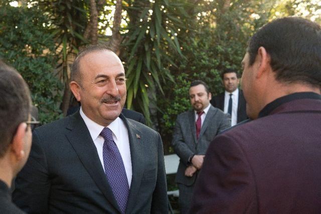 Dışişleri Bakanı Mevlüt Çavuşoğlu Los Angeles'da Yaşayan Türklerle Bir Araya Geldi