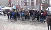 Tekirdağ'da Pazarcılar Yol Kapattı