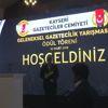 Bakan Özhaseki, Geleneksel Gazetecilik Yarışması Ödül Töreni