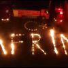 Malatya'da İtfaiyeciler Alevlerle 'Afrin' Yazdı