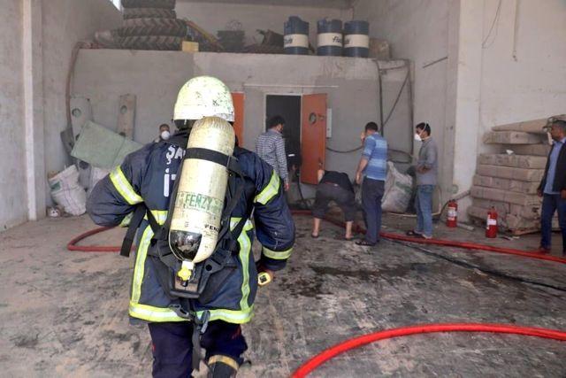 İplik Fabrikasında Çıkan Yangını İtfaiye Söndürdü