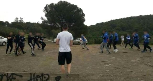 İspanya'da Holiganlar Randevulaşıp Boş Arazide Kavga Etti