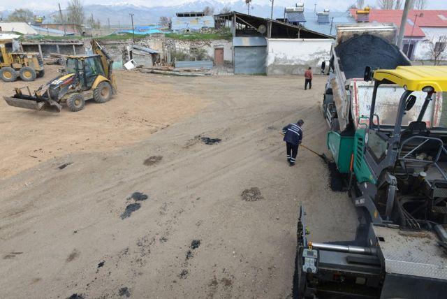 Yakutiye Belediyesi, Köylerde Asfalta Başladı
