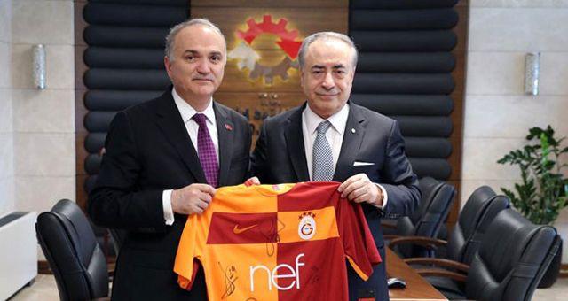 Galatasaray Başkanı Mustafa Cengiz, Bakan Faruk Özlü'yü Ziyaret Etti