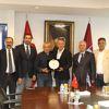 Trabzonspor Kulübü Başkanı Ağaoğlu'ndan Çalımbay'a Plaket