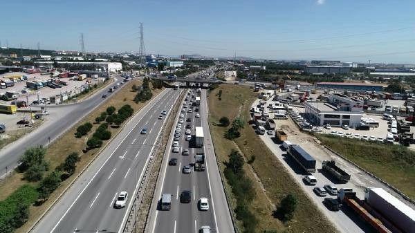 Havadan Fotoğraflarla) Trafikte Bayram Yoğunluğu