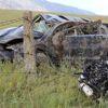 Karıştığı Kazanın Ardından Takla Atarak Tarlaya Uçan Aracın Motoru Yerinden Fırladı