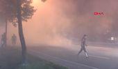 İstanbul Beyoglu'nda Seyır Halındekı Otomobıl Henuz Bılınmeyen Bır Nedenle Alev Alev Yandı