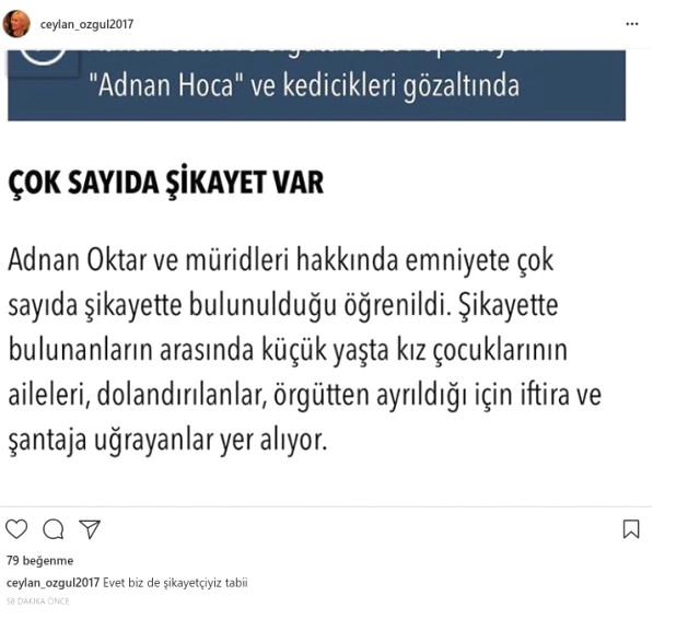 Eski Kedicik Ceylan Özgül, Adnan Oktar'ın Gözaltına ...