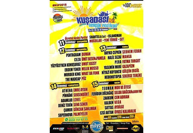 Kuşadası Gençlik Festivali 11-15 Temmuz'da