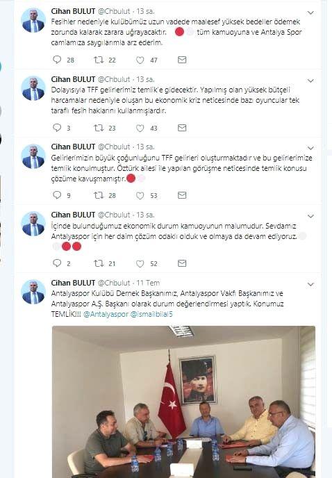 Antalyaspor'un Tff Gelirlerine Temlik Konuldu
