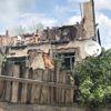 İki Katlı Ev Çıkan Yangında Küle Döndü