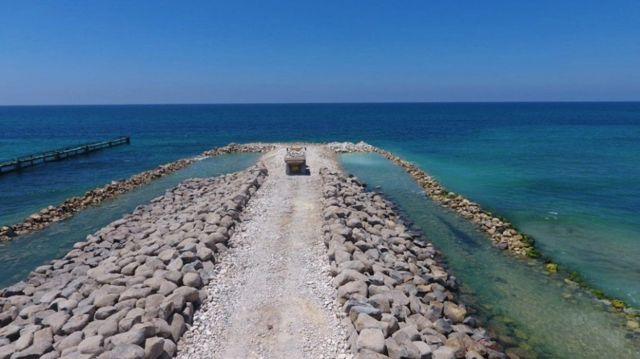 İsrail, Gazze Sınırında Deniz Duvarının İnşasına Devam Ediyor