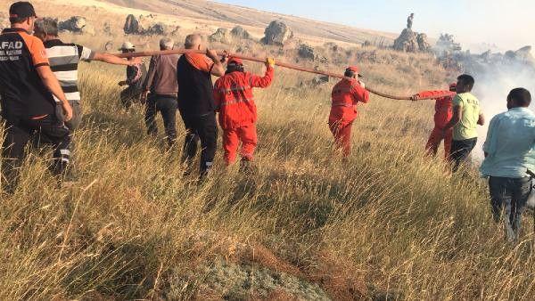 Aksaray'da Orman Yangını 100 Dönüm Mera Alanı Kül Oldu