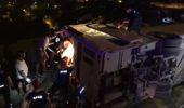 Bursa'da Otobüs Şarampole Devrildi: Yaralılar Var
